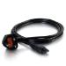 C2G 80603 cable de transmisión Negro 3 m C5 acoplador BS 1363