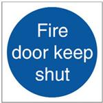 FSMISC SIGN FIRE DOOR KEEP SHUT 100X100MM S/A