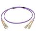 C2G 50M SC/SC OM4 LSZH FIBRE PATCH - VIOLET fiber optic cable
