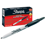 Sharpie Fine Retractable Fine tip Black 12pc(s) permanent marker