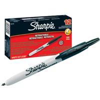 Sharpie Fine Retractable permanent marker Black Fine tip