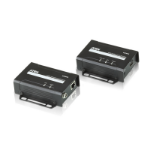 Aten VE801-AT-G AV extender AV transmitter & receiver Black