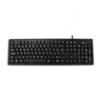 V7 J153313 USB + PS/2 QWERTY Spanish Black keyboard