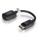C2G 20cm DisplayPort to HDMI Adapter - DP Male to HDMI Female - Black