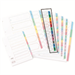 Concord Index Multicolour-tabbed Mylar-Reinforced 4 Holes 1-12 A4 White Ref CS13