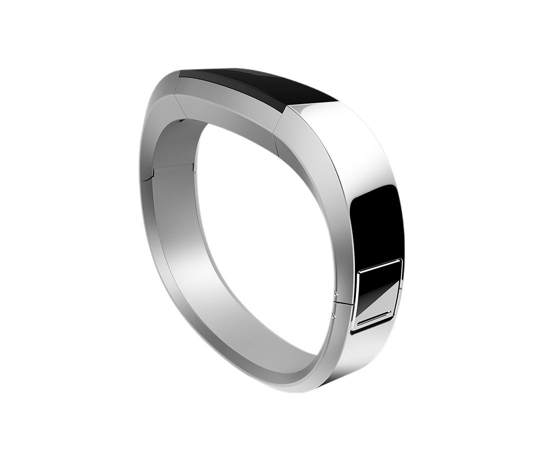 Fitbit FB158MBSRS activity tracker Wristband activity tracker Black,Stainless steel
