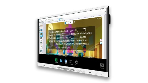 "SMART Technologies SMART Board MX265 interactive whiteboard 163.8 cm (64.5"") Touchscreen 3840 x 2160 pixels Black, White"
