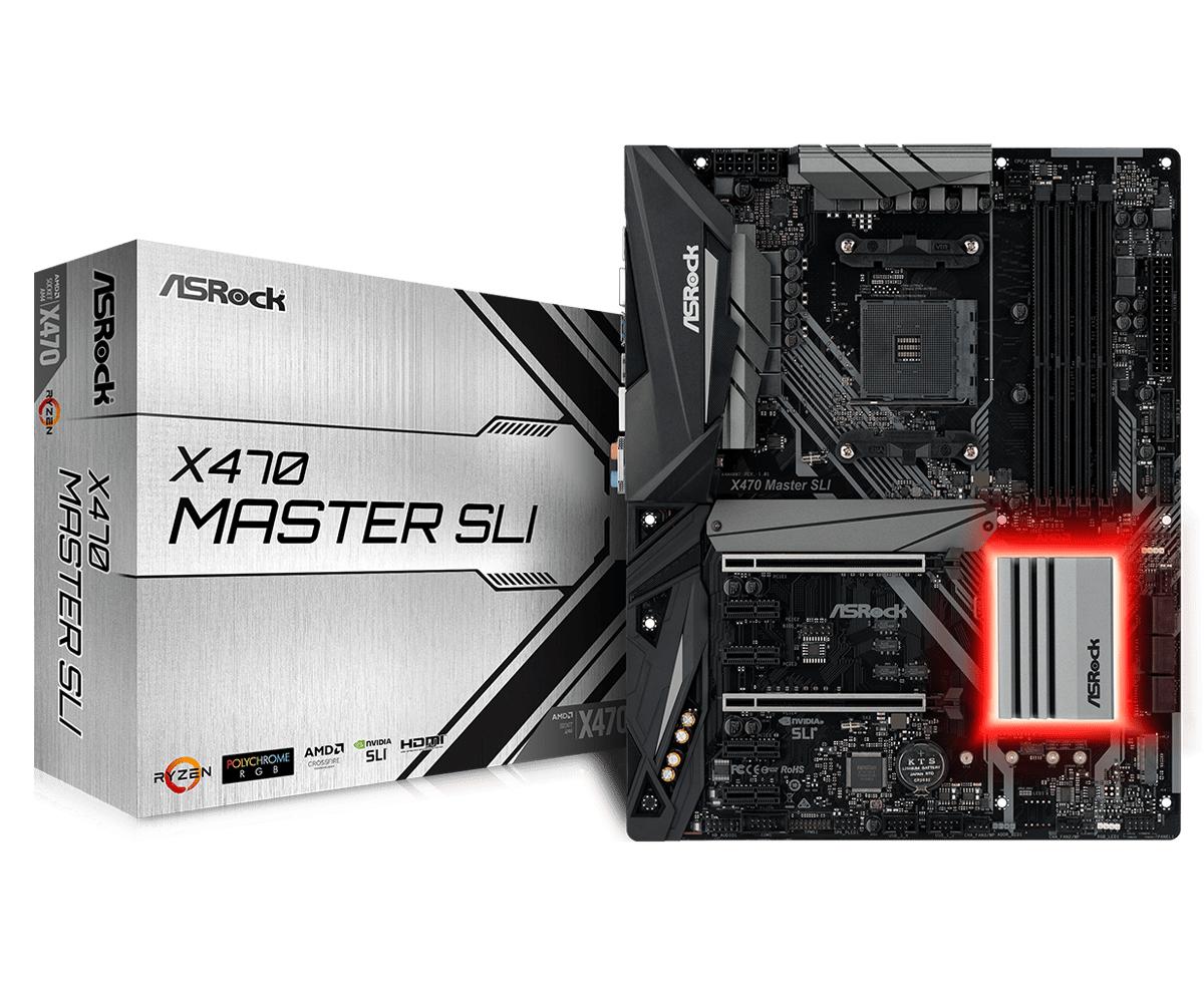 Asrock X470 Master SLI AMD X470 Socket AM4 ATX