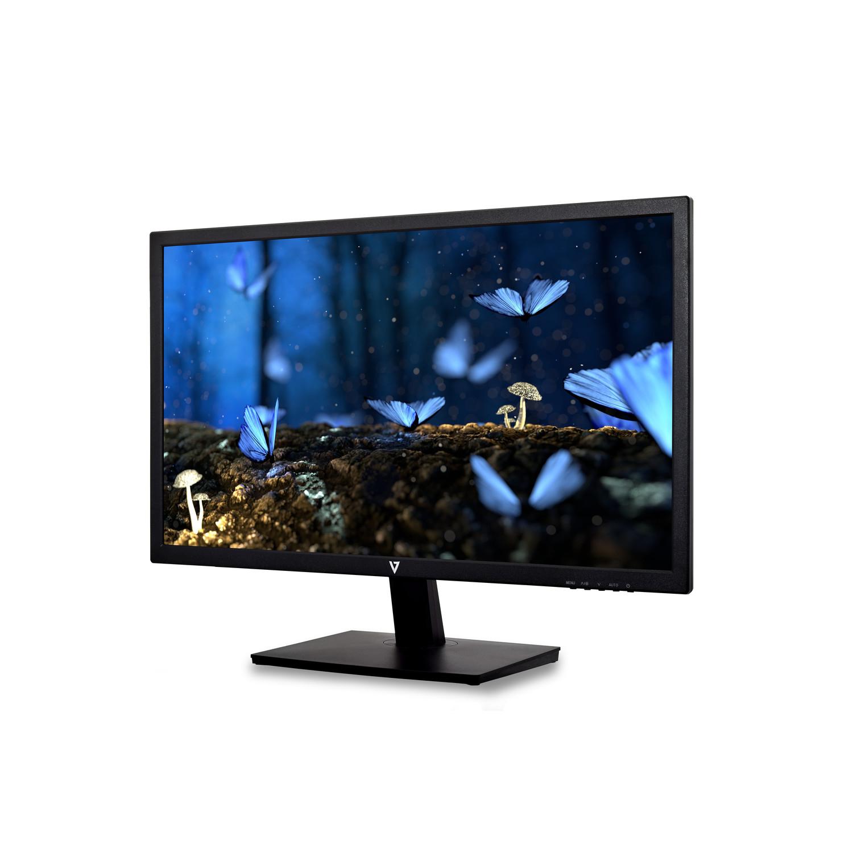 "V7 L236E-3EU LED display 59,9 cm (23.6"") Full HD Flat Mat Zwart"