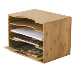 Lipper 811 Bamboo Brown file storage box/organizer