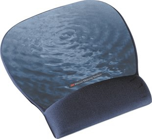 Precise Mousing Surface With Blue-water Fabric Gel Wrist-rest