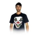 MERONCOURT Digital Dudz Unisex Moving Eye Demon Clown Digital T-Shirt, Medium, Black (DDTEDCM-M)