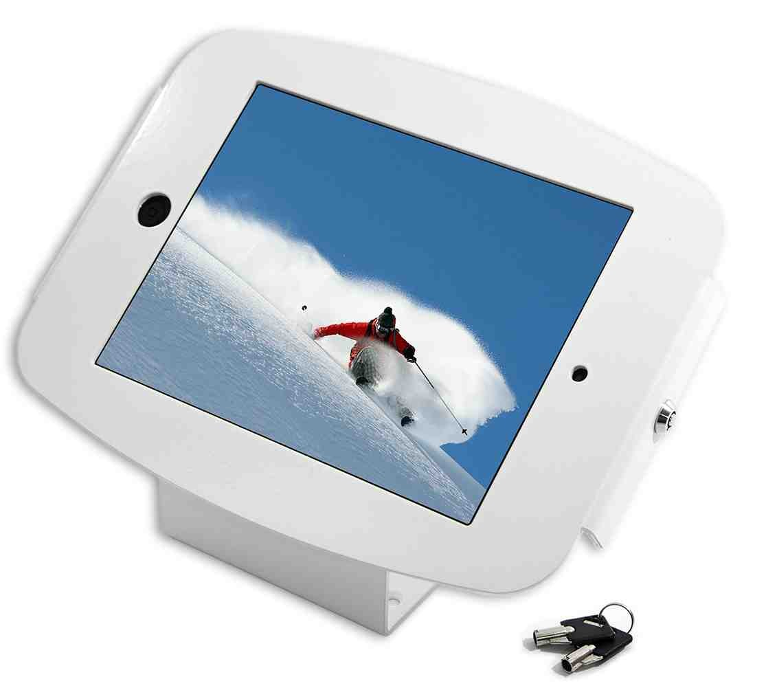 Maclocks iPad Secure Space Enclosure with 45� Kiosk White - Mounting kit ( mounting adapter, anti-theft enclo