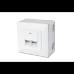 Digitus CAT 6, Class E, modular wall outlet, shielded