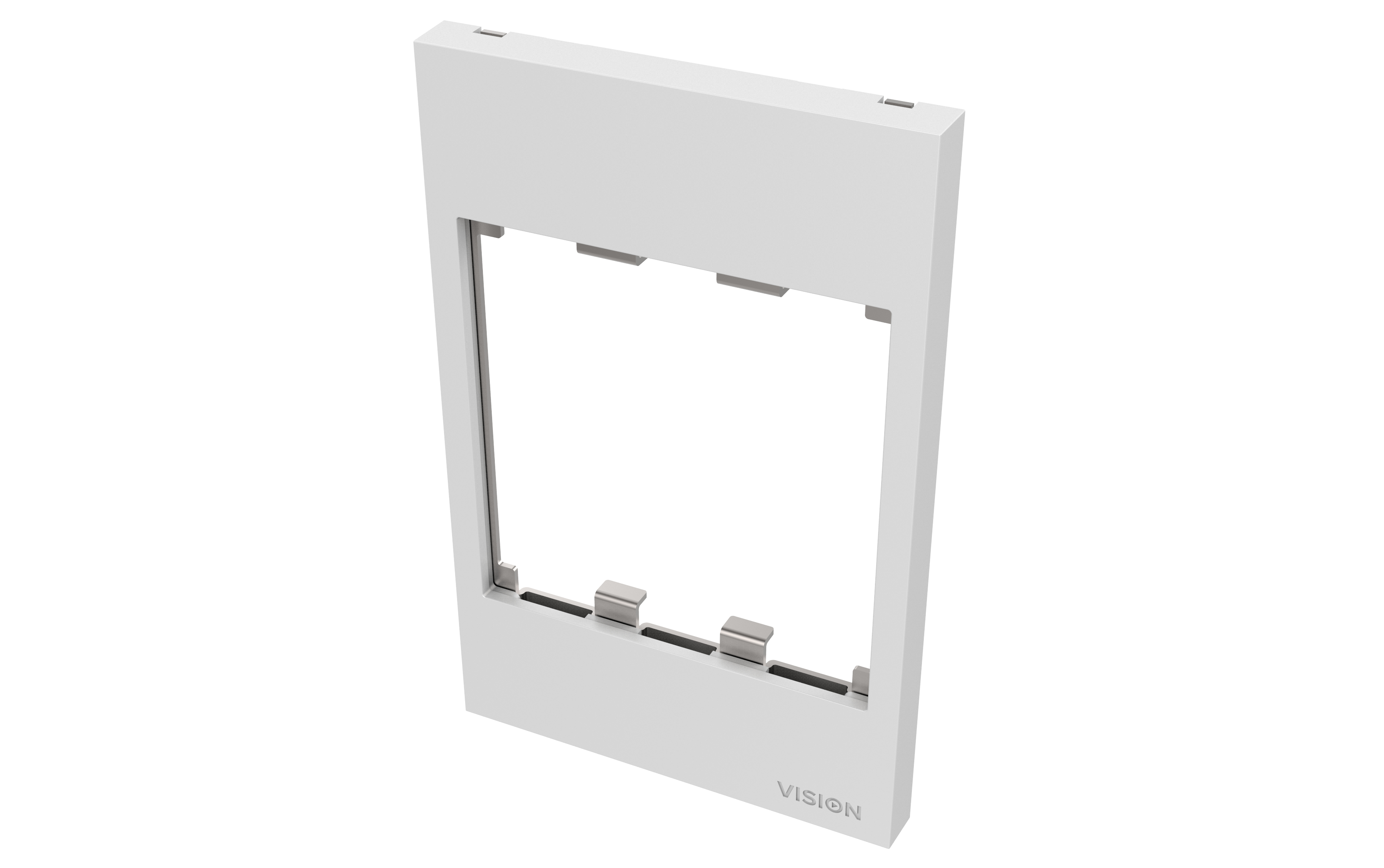 Vision TECHCONNECT V3 AUSTRALIAN 1-GANG SURROUND 1-gang frame which accommodates THREE modules. Fits to any