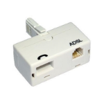 TARGET BT (M) to BT (F) and RJ11 (F) White OEM Direct Plug ADSL Micro Filter Adapter