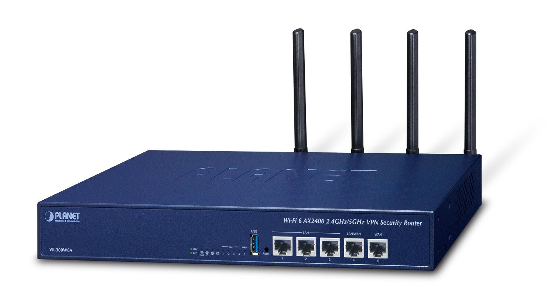 PLANET Wi-Fi 6 AX2400 2.4GHz/5GHz wireless router Gigabit Ethernet Blue