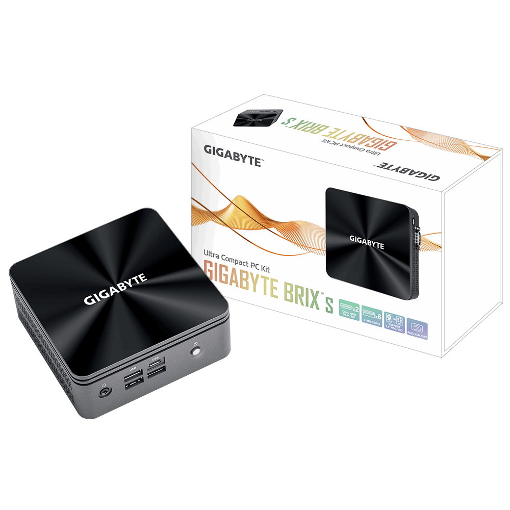 Gigabyte GB-BRI3H-10110 PC/workstation barebone Black BGA 1528 i3-10110U 2.1 GHz