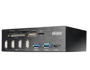 Akasa InterConnect Pro card reader USB 2.0/eSATA Black