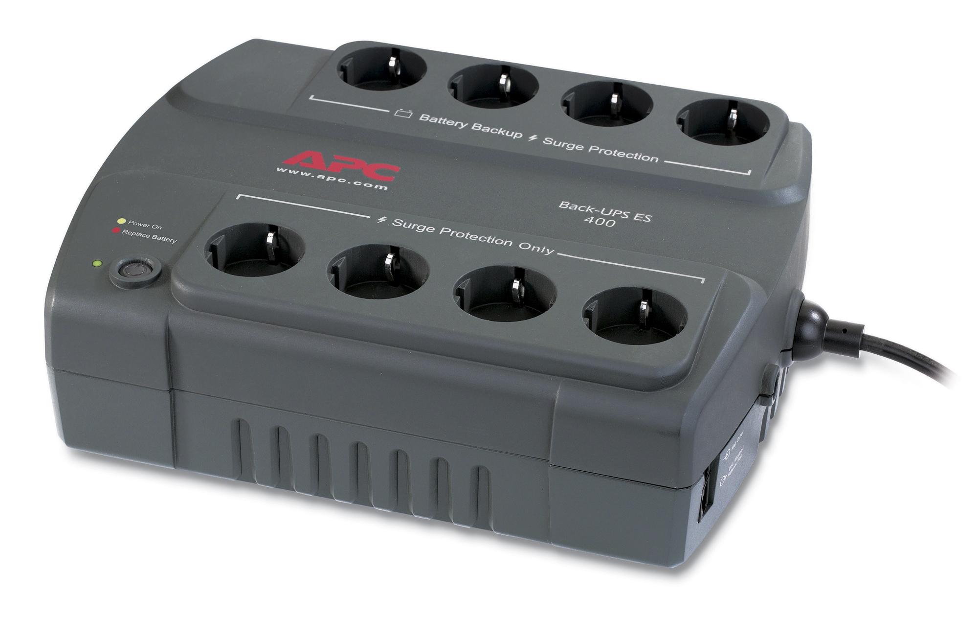 APC Back-UPS sistema de alimentación ininterrumpida (UPS) En espera (Fuera de línea) o Standby (Offline) 400 VA 240 W