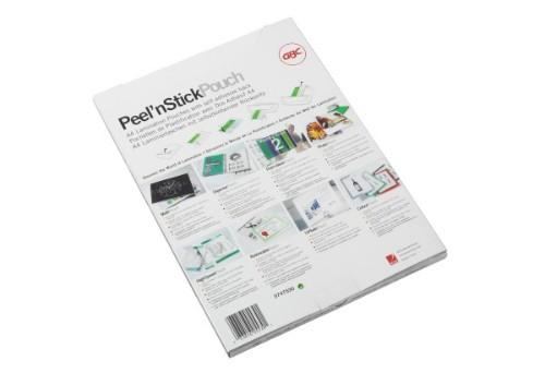 GBC Peel`n Stick Laminating Pouches A4 2x100 Micron Gloss (100)