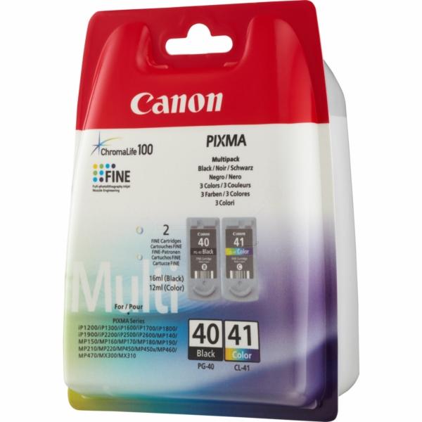 Canon 0615B036 (PG-40 CL 41) Printhead multi pack, 16ml+12ml, Pack qty 2