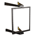 Tripp Lite 12U Wall-Mount Open Frame Rack, 2-Post, Pivoting, Flat-Pack, Low-Profile Switch-Depth