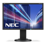 "NEC MultiSync E223W 22"" TN Black computer monitor"
