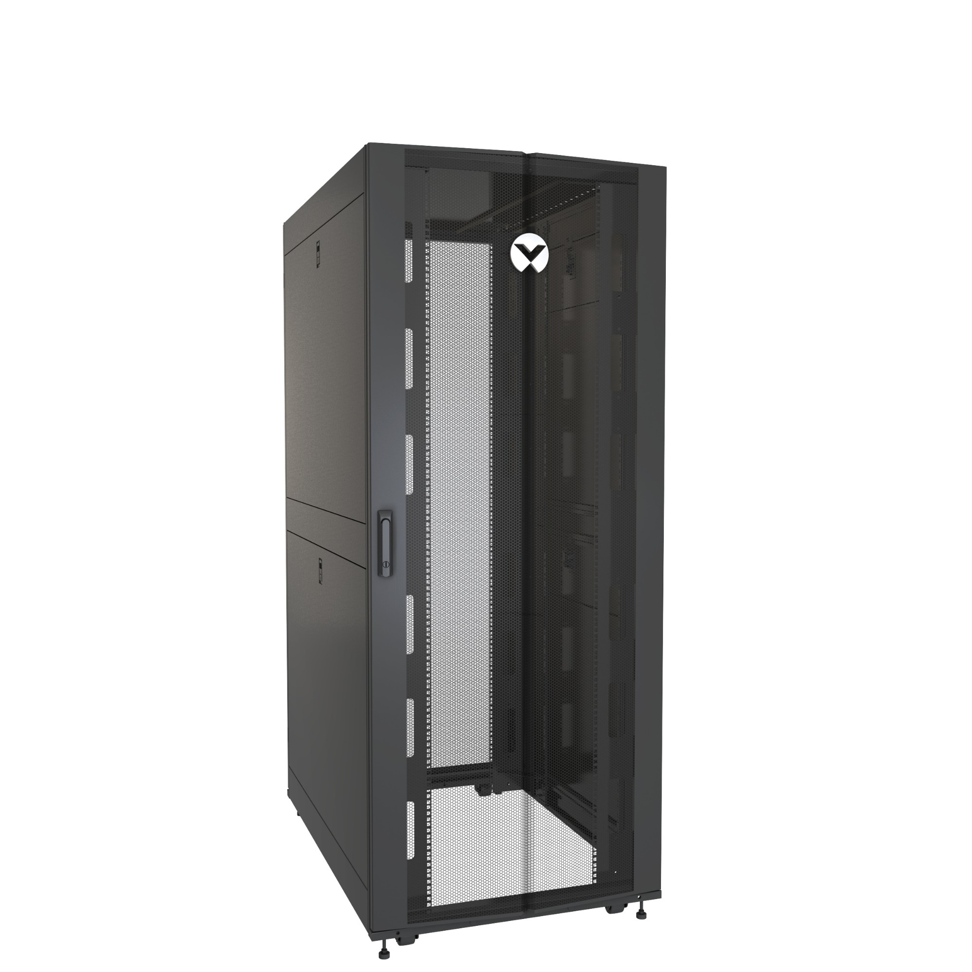 Vertiv VR3350 armario rack 42U Rack o bastidor independiente Negro, Transparente