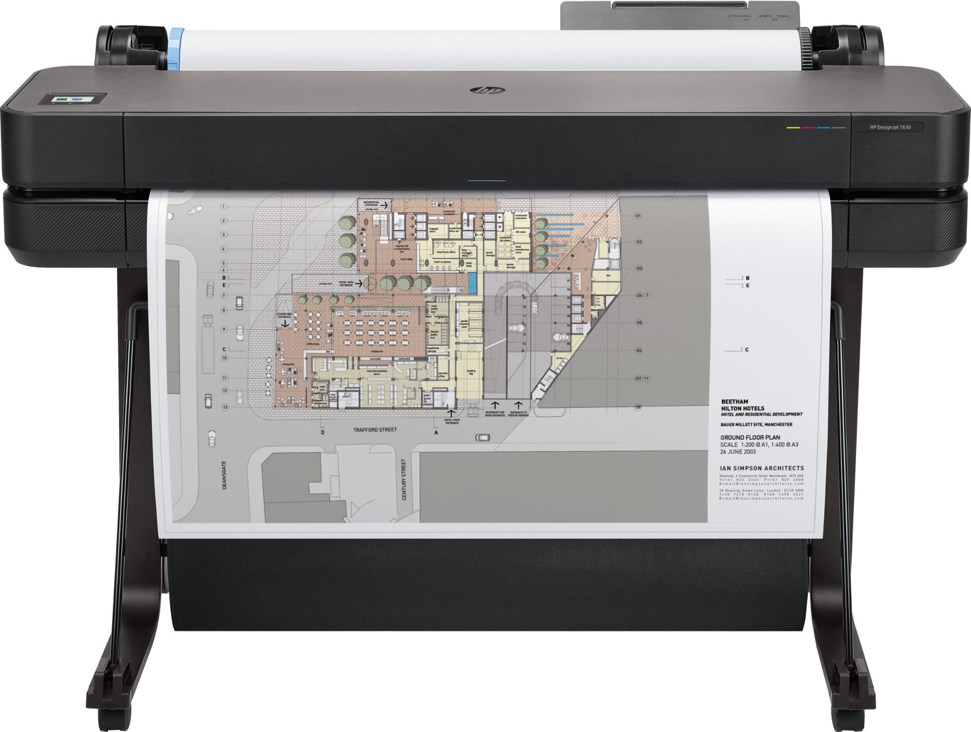 HP Designjet T630 large format printer Thermal inkjet Colour 2400 x 1200 DPI 914 x 1897 mm