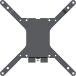Vision VFM-W2X2 TV mount 127 cm (50 Zoll) Schwarz