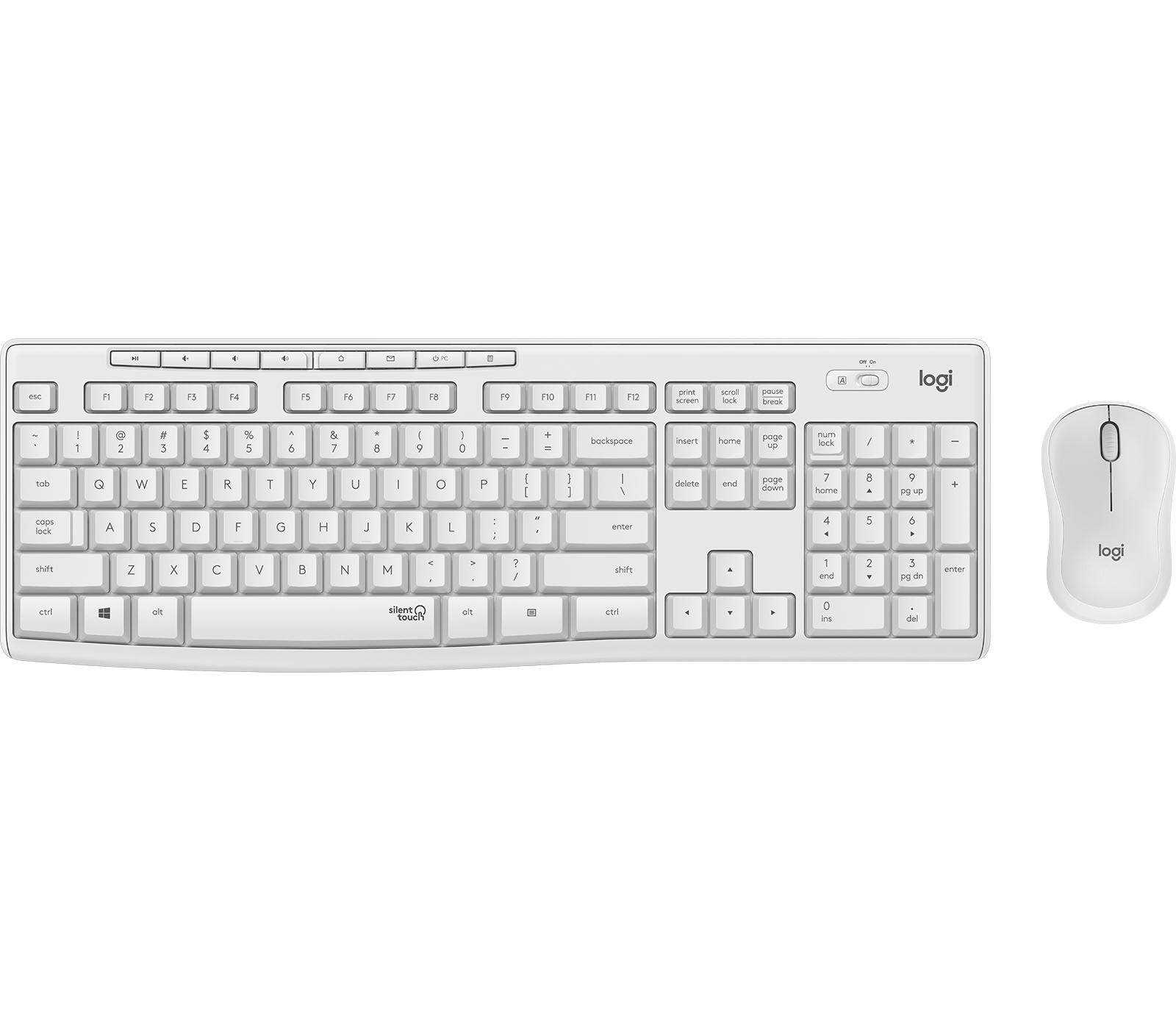 Logitech MK295 Silent Wireless Combo teclado RF inalámbrico QWERTZ Suizo Blanco