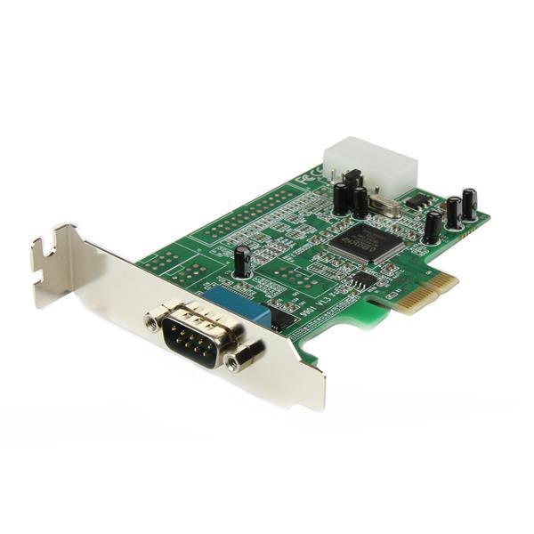 StarTech.com Tarjeta Adaptadora PCI Express PCIe Perfil Bajo de un Puerto Serie RS232 DB9 UART 16550