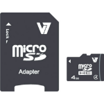 V7 4GB Micro SDHC Card Class 4 + Adapter memory card VAMSDH4GCL4R-2E