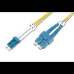 Digitus DK-292SCA3LC-05 fibre optic cable 5 m SC/APC LC/PC OS1 Yellow