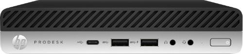 HP ProDesk 600 G5 DDR4-SDRAM i3-9100T mini PC 9th gen Intel® Core™ i3 4 GB 1000 GB HDD Windows 10 Pro Black