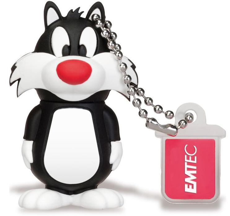 Emtec 8GB USB2.0 L101 LT Sylvester 8GB USB 2.0 Black,White USB flash drive