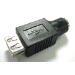 MCL Changeur de genre USB USB - A Male mini din 6 (PS2) Negro