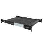 StarTech.com 2U Adjustable Mounting Depth Vented Sliding Rack Mount Shelf – 50lbs / 22.7kg