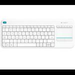 Logitech K400 Plus RF Wireless White keyboard