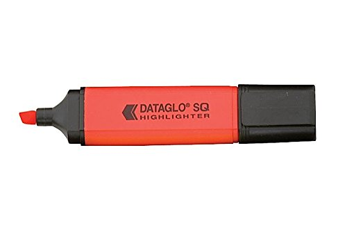 Hainenko Value Highlighter Flat Barrel Chisel Tip Red (PK10)
