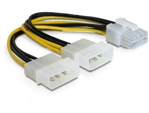 DeLOCK PCI Express power power cable Multicolor 0.30 m