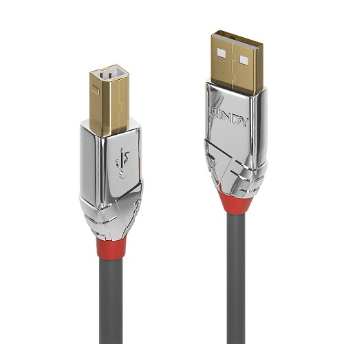 Lindy 36643 USB cable 3 m USB A USB B Grey