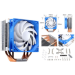 SilverStone AR03 12CM PWM 6 Heatpipe CPU Cooler, Compatible 2011, 2066, 1150, 1151, 1155, FM2, AM4 Height. 159mm