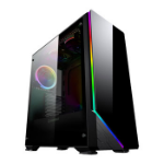 GAMEMAX Shadow RGB Chassis Tempered Glass 1x 120mm Fan Radiator Support ATX/MicroATX/Mini ITX USB 3.0