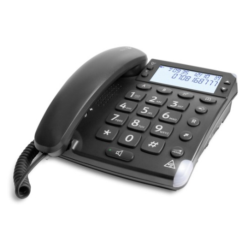 Doro Magna 4000 Analog telephone Caller ID Black