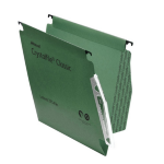 Rexel Crystalfile Classic `275` Lateral File 15mm Green (50)