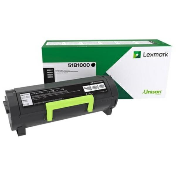 Lexmark 51B00A0 Toner black, 2.5K pages