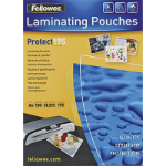 FELLOWES LAMINATING POUCH 59 X 83MM 175 MICRON GLOSS PACK 100