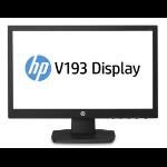 "HP V193 18.5"" TN Zwart computer monitor"